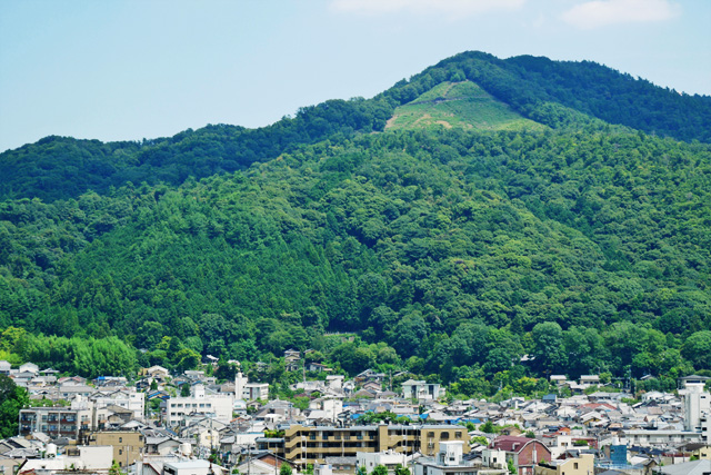 吉田山から見た大文字の写真