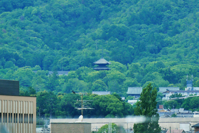 京都ファミリーから五山送り火の写真