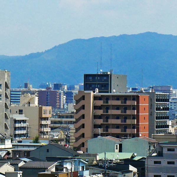 イオンモール京都五条から見る送り火