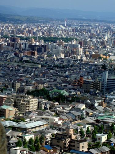 左大文字から京都タワー