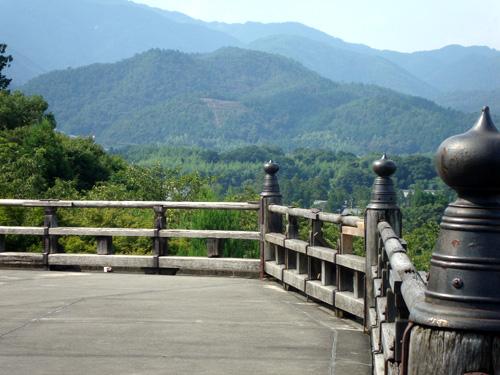 渡月橋から鳥居形