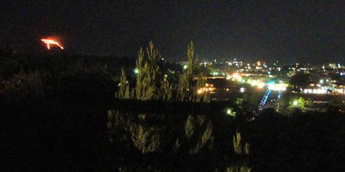 法輪寺から鳥居形と渡月橋を見る