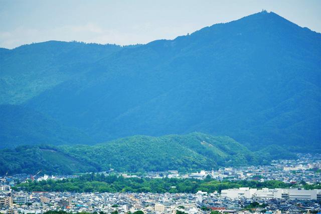 衣笠山 五山送り火の妙法の写真