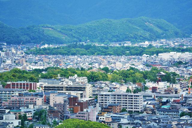 衣笠山 五山送り火の妙法のの写真