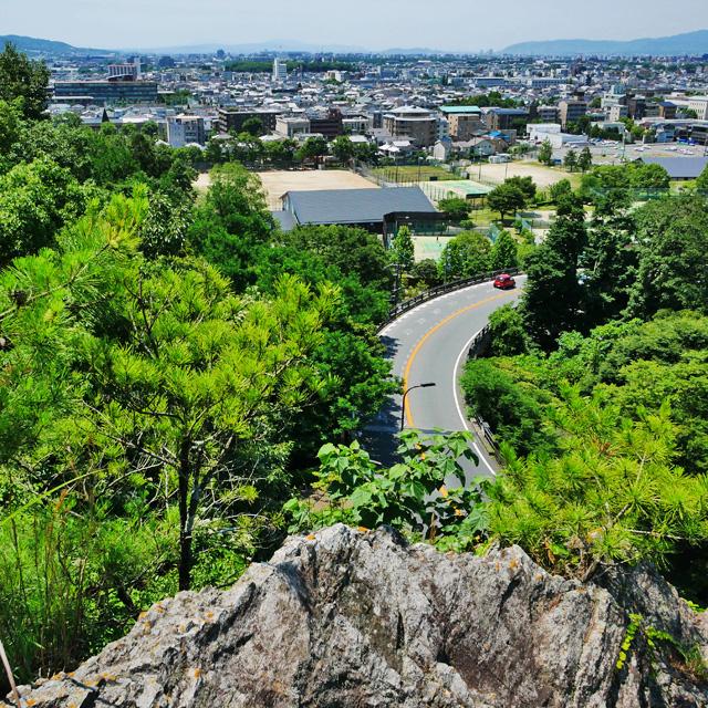 狐子坂のうえの眺望の写真