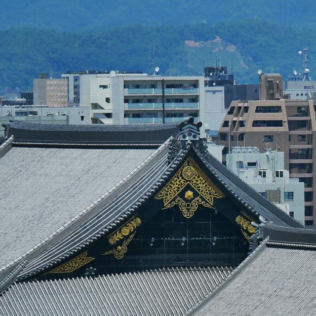 京都駅ビルから五山送り火 妙法の法