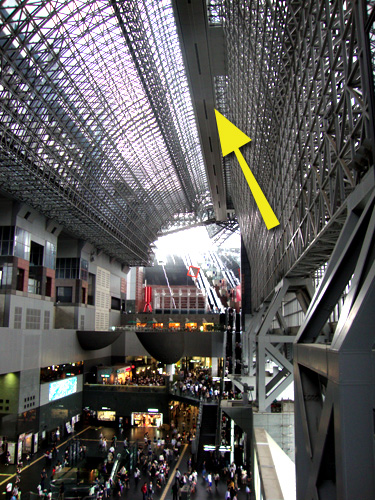 京都駅ビル空中経路