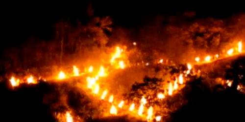 松ヶ崎で送り火