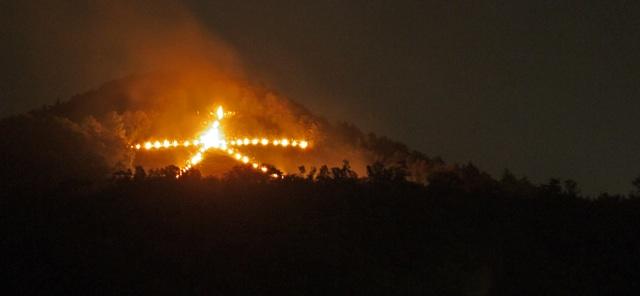 京都 大文字 送り火の写真
