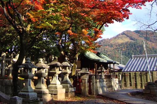 竹中稲荷神社から見た大文字